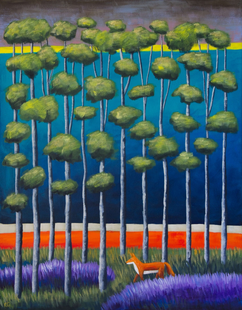 Blue Forest Frankie 16x20 inches
