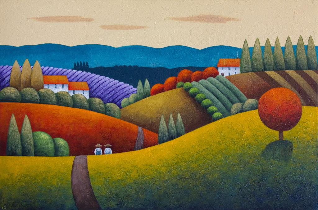 Morning Colour 36x24 inches