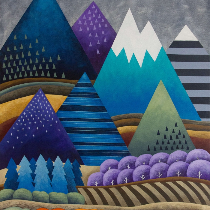 Mountainscape 24x36 inches